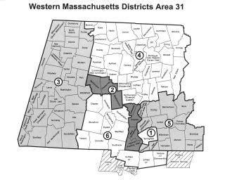 Area 31 Districts Map